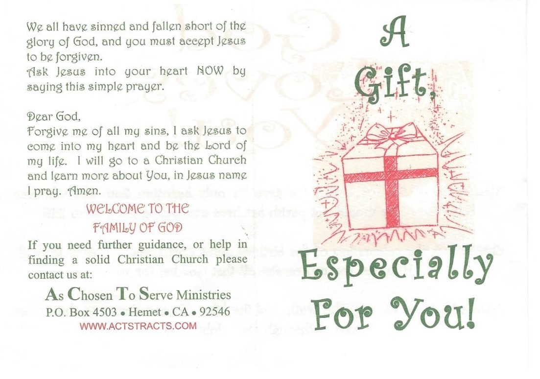Acts tracts easter gift a gift especially for you christmas negle Gallery